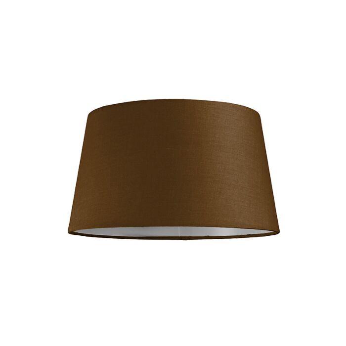 Pantalla-para-lámpara-colgante-30cm-cónica-SU-E27-marrón