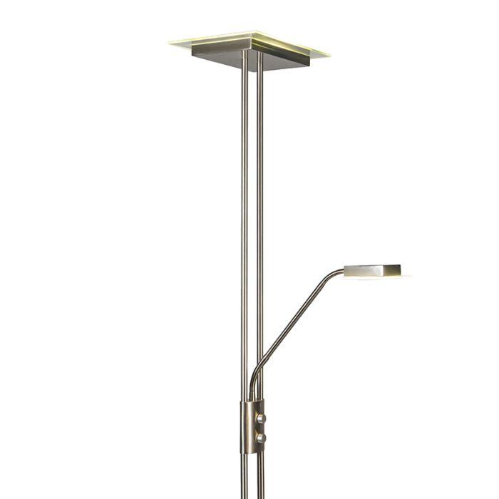 Lámpara-de-pie-JAX-con-brazo-de-lectura-cuadrada-acero