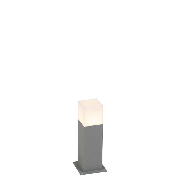Baliza-moderna-30-cm-gris-IP44---DENMARK