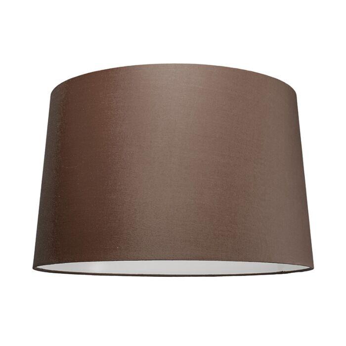 Pantalla-para-lámpara-colgante-50cm-cónica-SU-E27-marrón