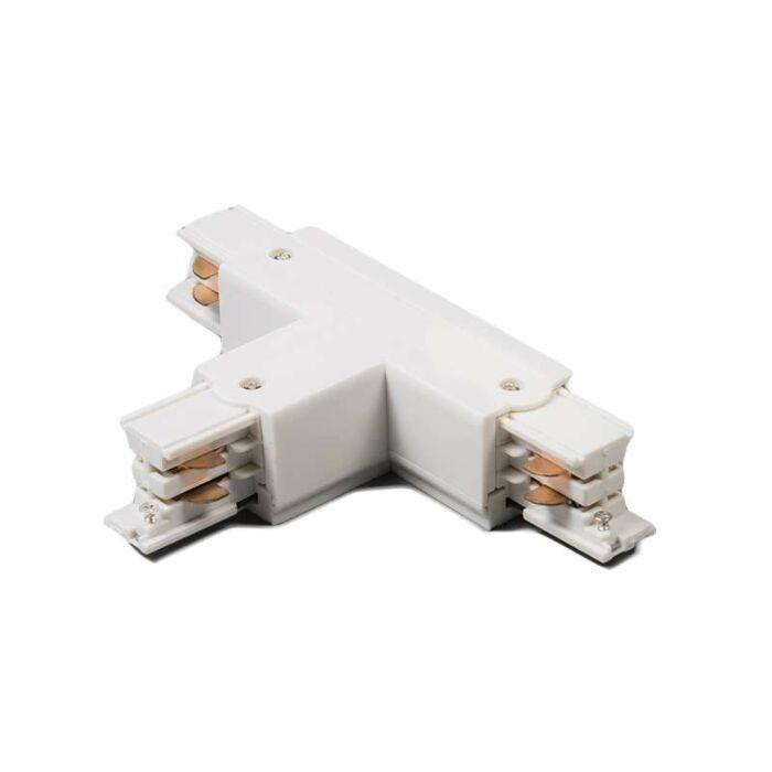Conector-T-trifásico-carril-izquierdo-blanco
