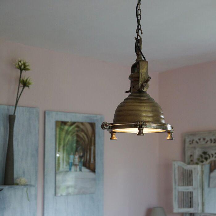 Lámpara-colgante-Fort-Raw-S-bronce-envejecido