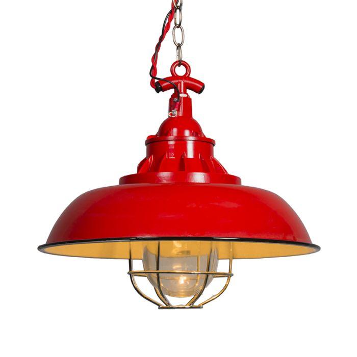 Lámpara-colgante-STRIJP-S-roja