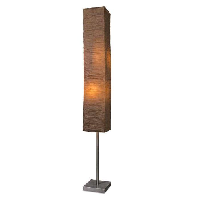 Lámpara-de-pie-PANATELLA-marrón