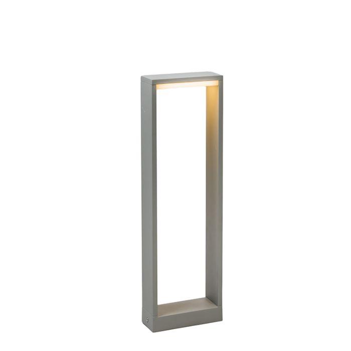 Baliza-FRAME-50-LED-gris-plateado