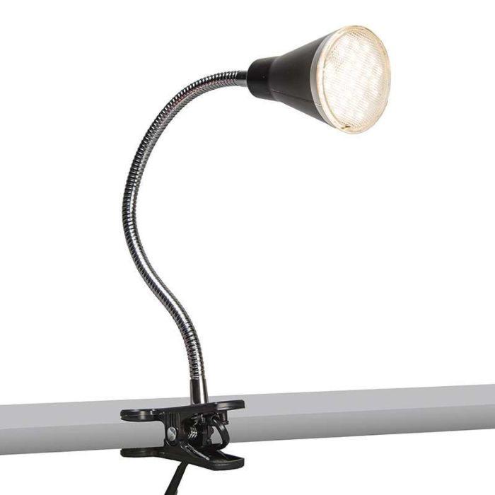 Lámpara-de-pinza-FUNNEL-LED-negra