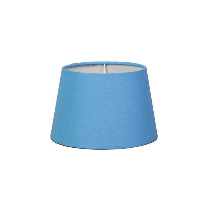 Pantalla-para-lámpara-mesa/aplique-18cm-cónica-SD-E27-azul-claro