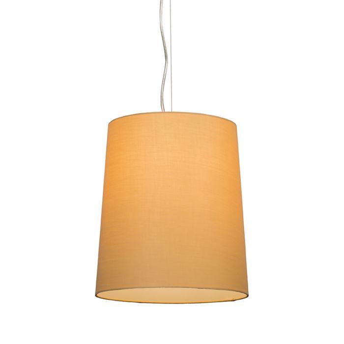 Lámpara-colgante-CAPPO-1-con-pantalla-beige