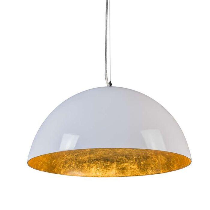 Lámpara-colgante-MAGNA-Glossy-55cm-blanca-y-oro