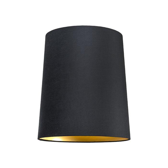 Pantalla-para-lámpara-colgante-35cm-cónica-SU-E27-negra-dorada