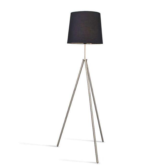 Lámpara-de-pie-TRIPODE-acero-con-pantalla-negra