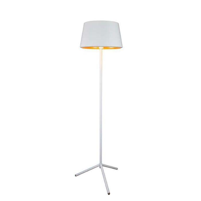 Lámpara-de-pie-VEGAS-blanco-y-oro