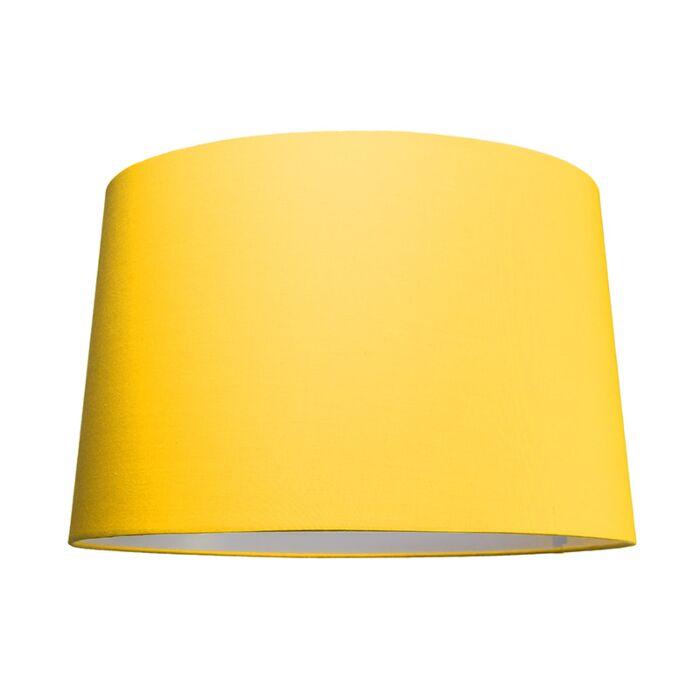 Pantalla-para-lámpara-colgante-50cm-cónica-SU-E27-amarilla