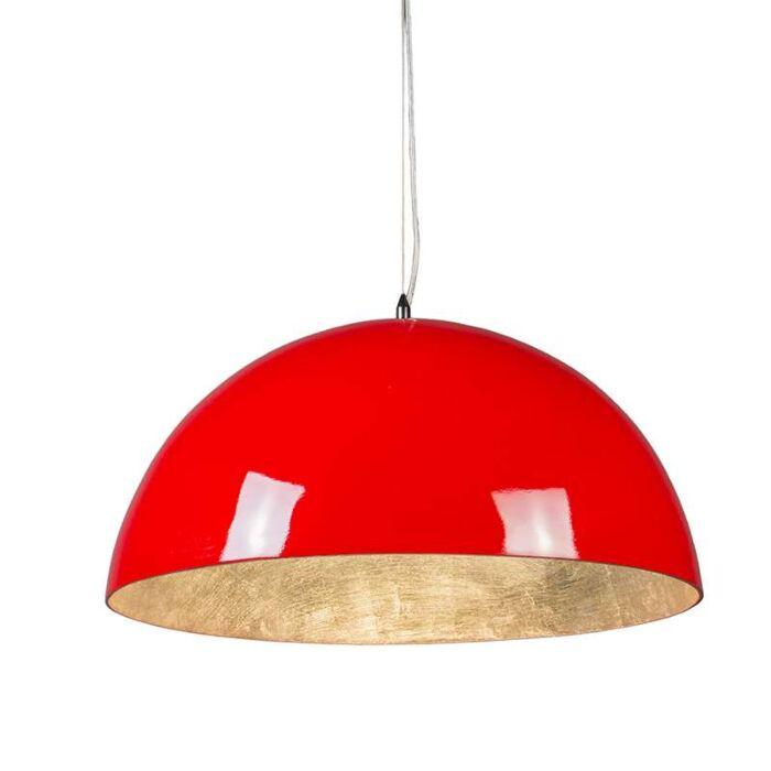 Lámpara-colgante-MAGNA-Glossy-55cm-rojo-y-plata