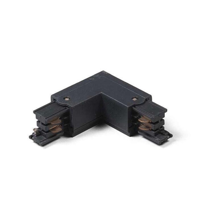 Conector-L-derecha-para-riel/carril-trifásico-negro