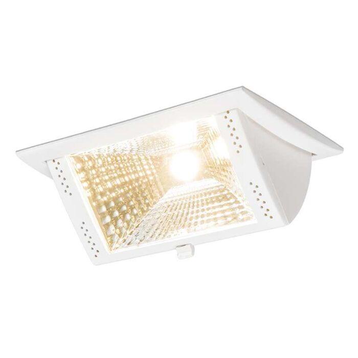 Foco-para-empotrar-RULER-II-rectangular-blanco