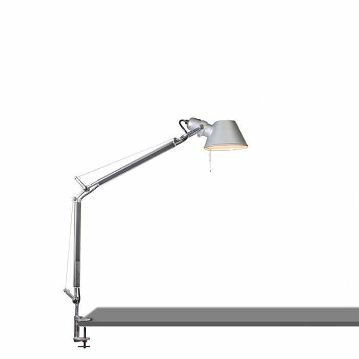 Lámpara-de-mesa-ajustable---ARTEMIDE-Tolomeo-tavolo-mini-abrazadera