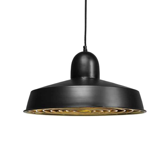 Lámpara-colgante-STRIJP-Deluxe-negra-y-dorada