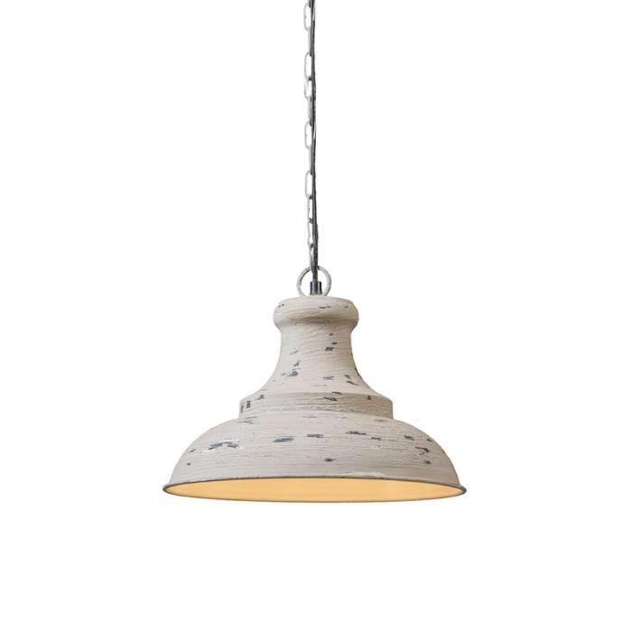 Lámpara-colgante-IRON-III-gris-envejecido