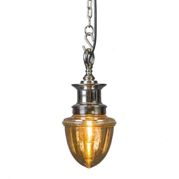Lámpara-colgante-KNOXVILLE-cromo-con-cristal