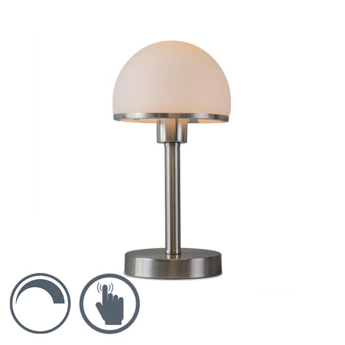 Lámpara-de-mesa-BAUHAUS-Táctil-acero
