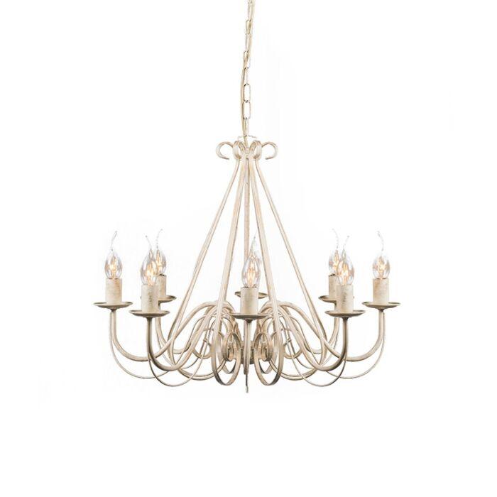 Lámpara-de-araña-antigua-crema-8-luces---GIUSEPPE-8
