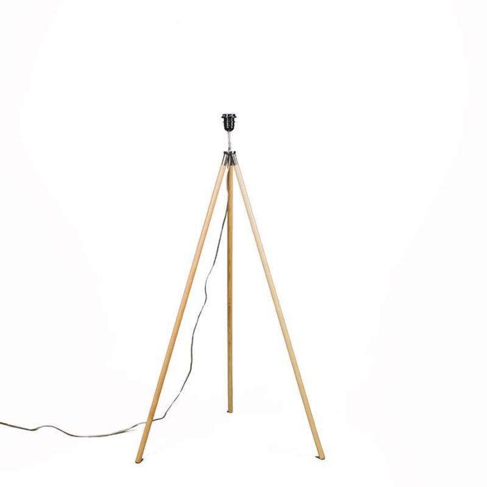 Lámpara-de-pie-TREPPIEDE-madera-sin-pantalla