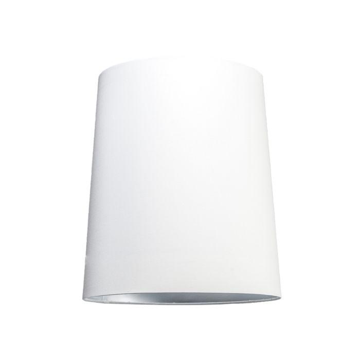 Pantalla-para-lámpara-colgante-35cm-cónica-SU-E27-blanca-plata