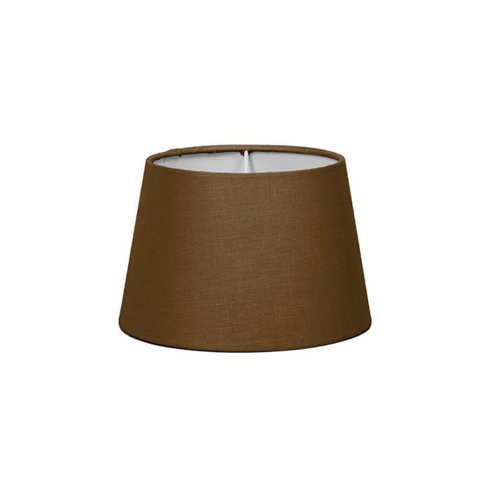 Pantalla-para-lámpara-mesa/aplique-18cm-cónica-SD-E27-marrón