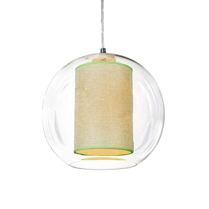 Lámpara-colgante-GLOBE-30-con-pantalla-verde