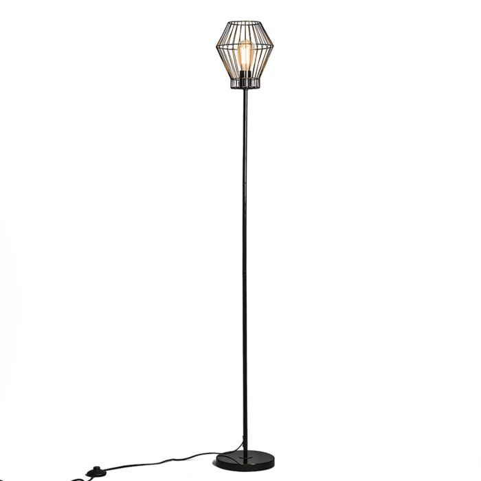 Lámpara-de-pie-FRAME-E-negra