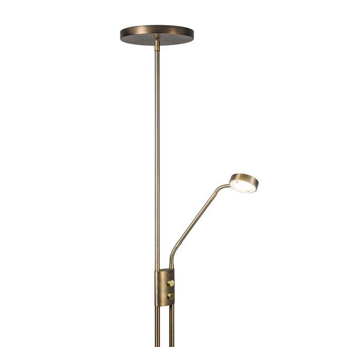 Lámpara-de-pie-JAZZY-con-brazo-de-lectura-redonda-bronce