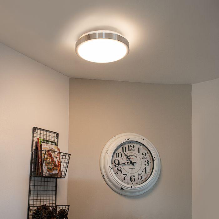 Plafón-moderno-aluminio-28cm-LED-12W---AVANT