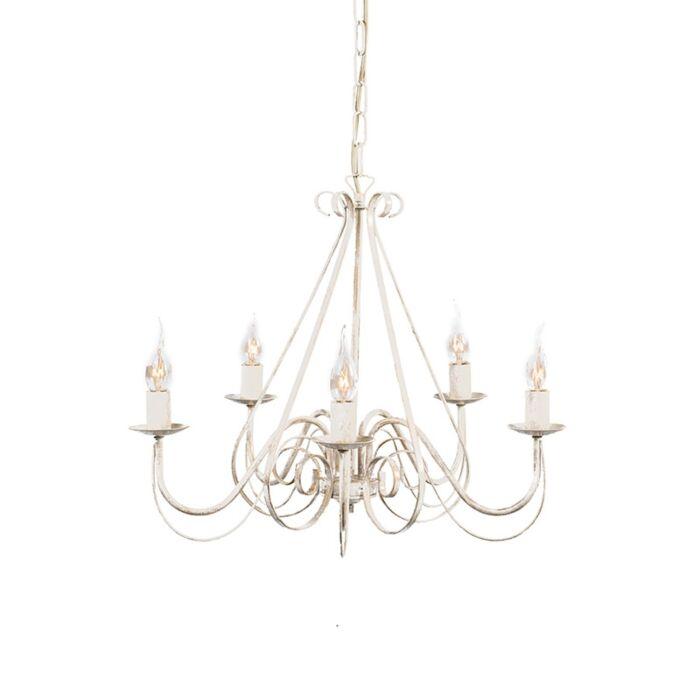 Lámpara-de-araña-blanca---GIUSEPPE-5