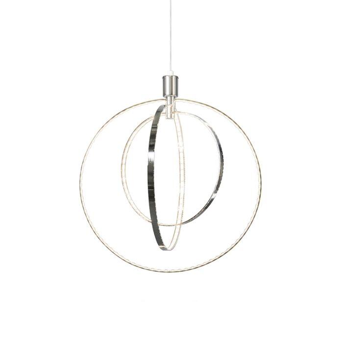 Lámpara-colgante-moderna-cromo-LED---LARGE
