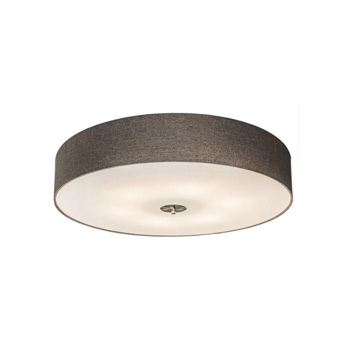 Lámpara-de-techo-rústica-taupe-70cm---DRUM-Jute