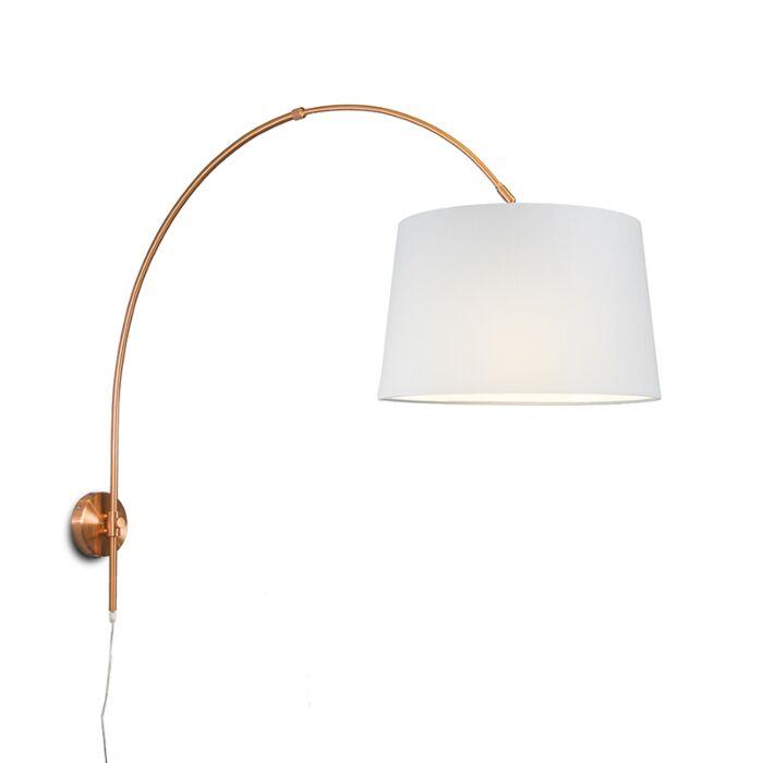 Aplique-arco-cobre-mate-con-pantalla-40cm-blanca