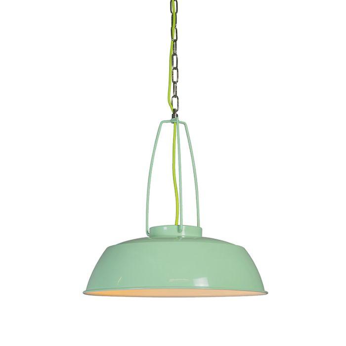 Lámpara-colgante-USINE-verde