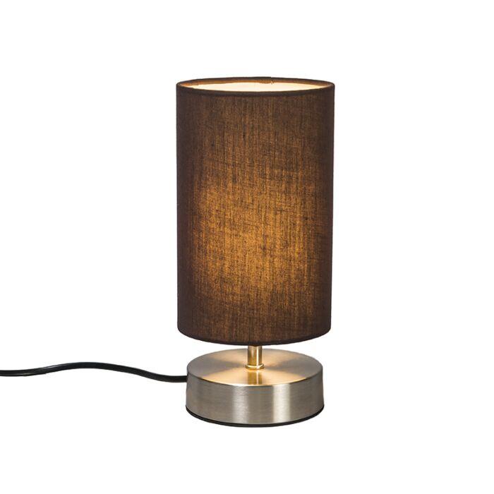 Lámpara-de-mesa-MILO-2-redonda-marrón