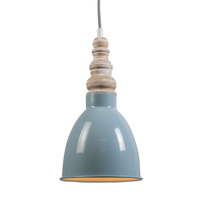 Lámpara-colgante-OAK-azul-claro