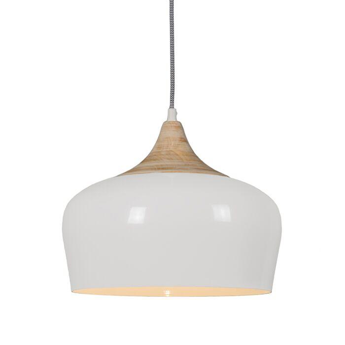 Lámpara-colgante-PINE-crema