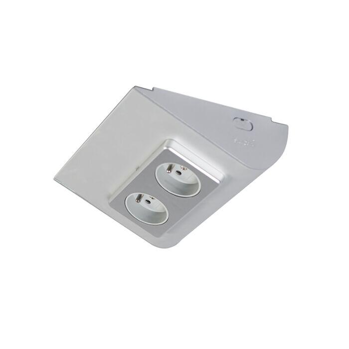 Interruptor-módulo-superficie-BAROLO-FP-titanio