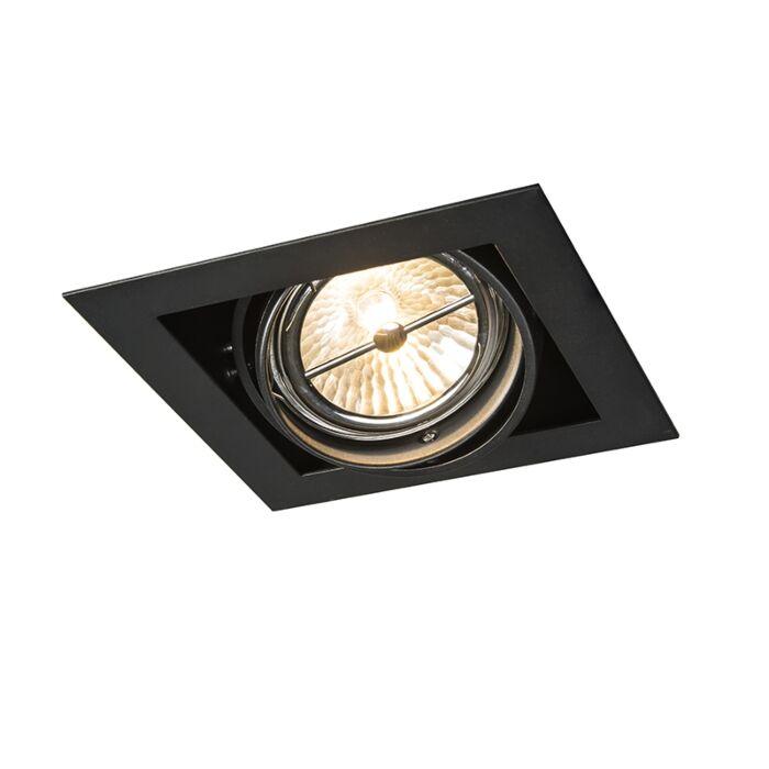 Foco-empotrable-cuadrado-negro-ajustable-1-luz---ONEON-111-1