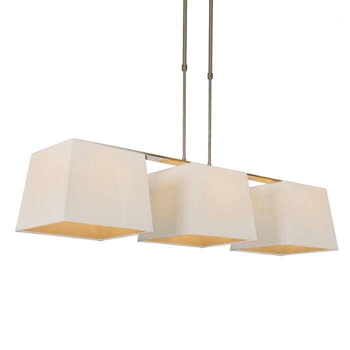 Lámpara-colgante-COMBI-Delux-3-pantallas-piramidales-30cm-blancas