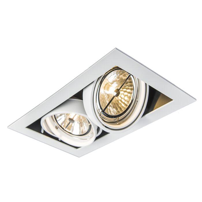 Foco-empotrado-blanco-orientable-2-luces---ONEON-111-2