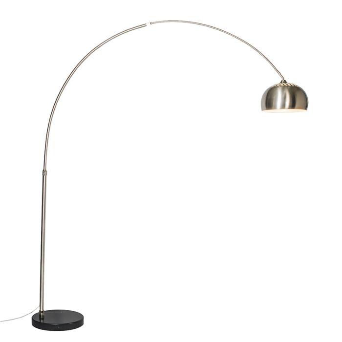 Lámpara-de-arco-acero-pantalla-33cm---XXL