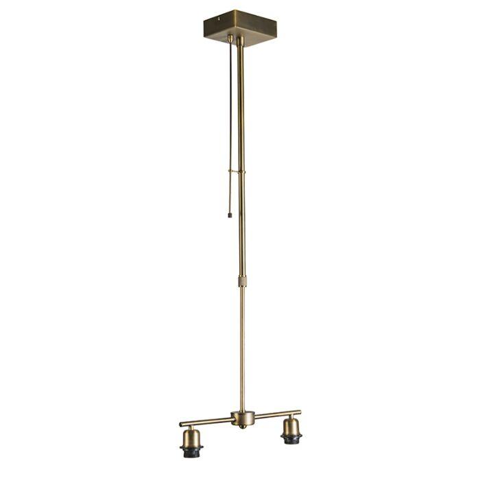 Lámpara-colgante-MIX-2-bronce-con-regulador