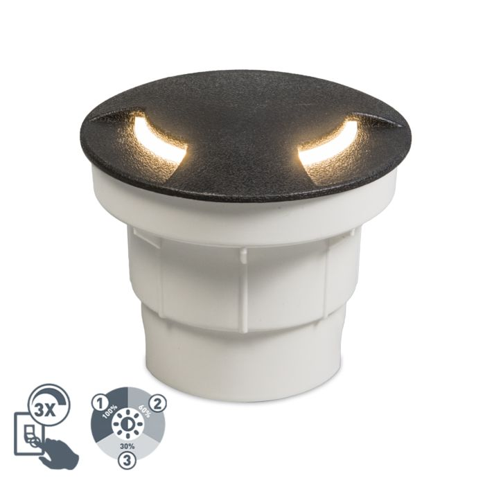 Foco-de-suelo-moderno-para-exterior-negro-con-LED-IP67---Ceci-2