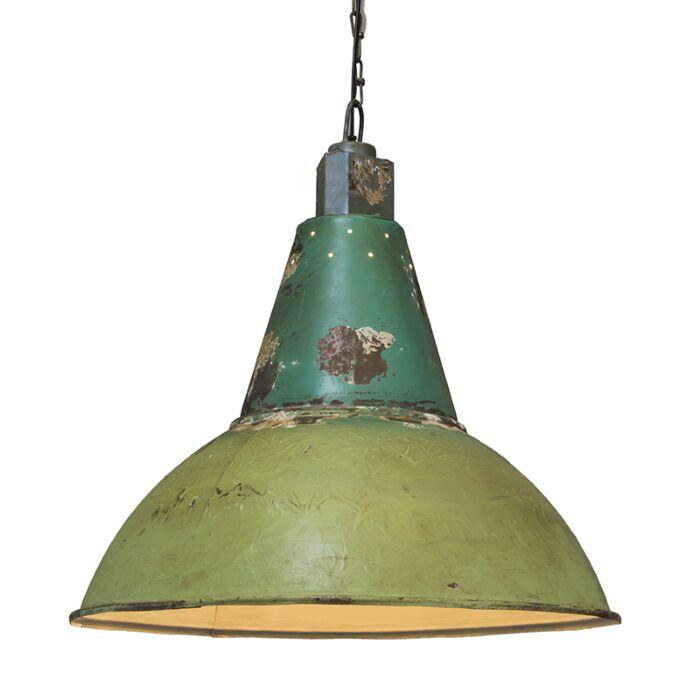 Lámpara-colgante-OXIDISE-verde-envejecido