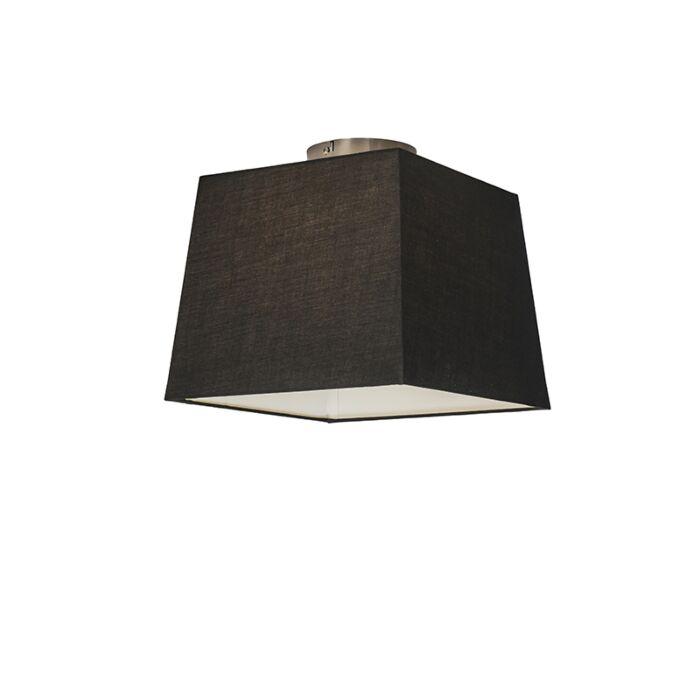 Plafón-COMBI-30cm-piramidal-negro